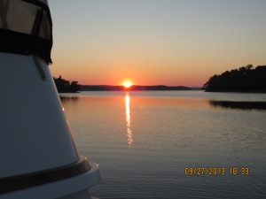 Sept 27 Sunset at anchor