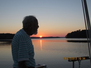 Sept 27 Dad on Journey at sunset