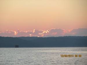 Oct 5 sunrise on TN River